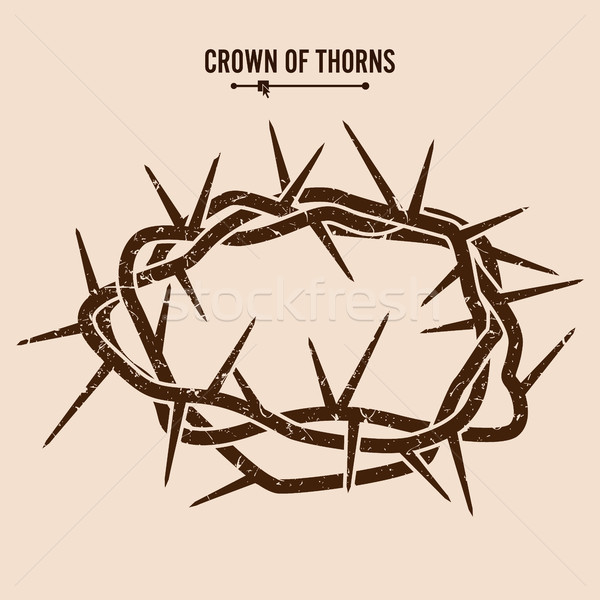 Silhouette Of A Crown Of Thorns Stock photo © pikepicture