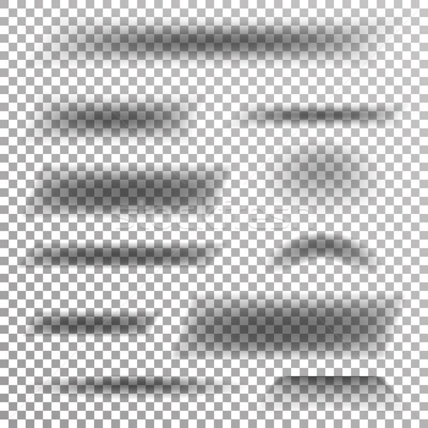 прозрачный мягкой тень вектора набор элемент Сток-фото © pikepicture