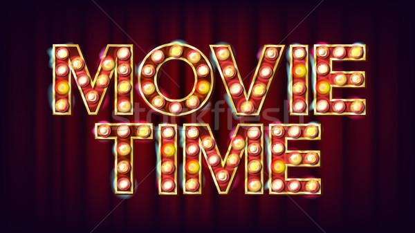 Film tijd poster vector bioscoop vintage Stockfoto © pikepicture