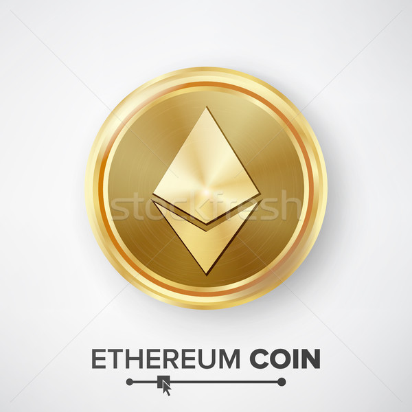 Ethereum Coin Gold Coin Vector Stock photo © pikepicture