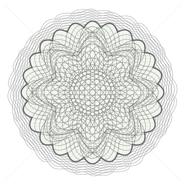 Guilloche Rosette Vector. Decorative Abstract Rosette Elements For Diploma, Certificate, Money Or Pa Stock photo © pikepicture