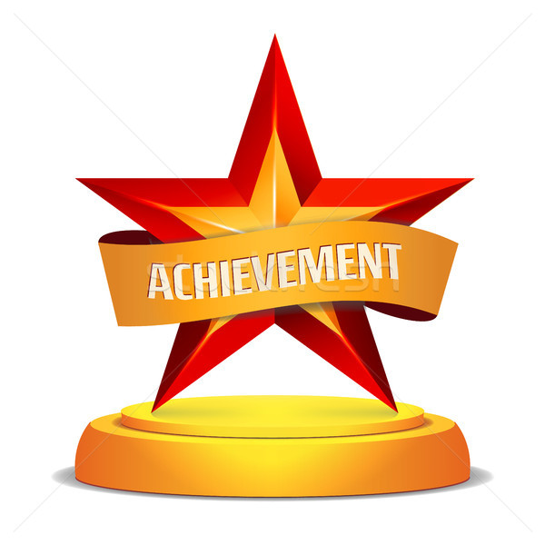 Gold Star Award  Shiny Vector Illustration  Modern Trophy