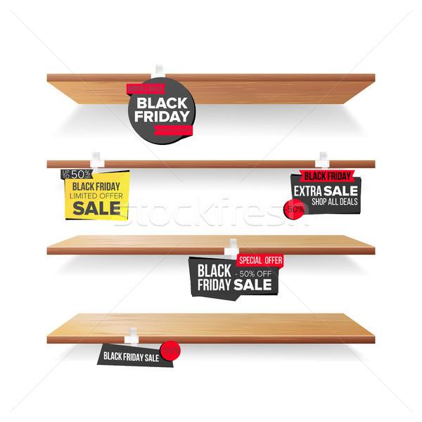 Vacío estantería black friday venta publicidad vector Foto stock © pikepicture