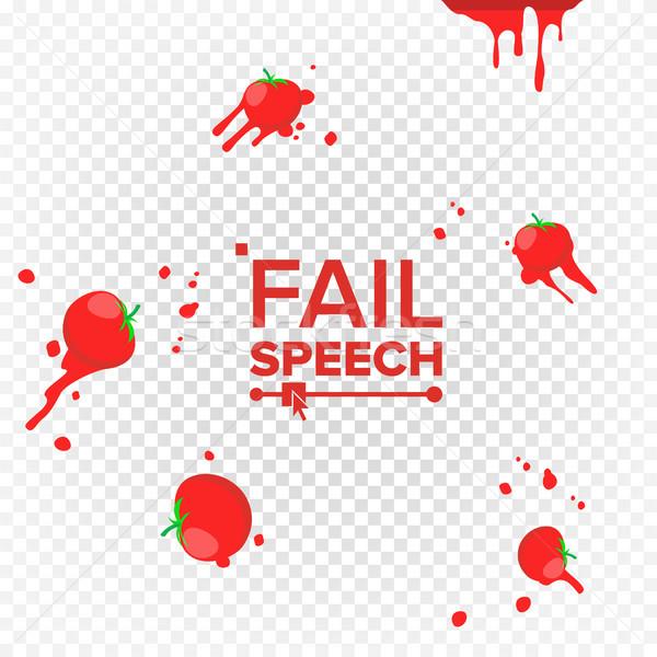 Throw Tomatoes Vector. Having Tomatoes From Crowd. Failure, Bad, Setback, Fiasco, Flop Concept. Isol Stock photo © pikepicture