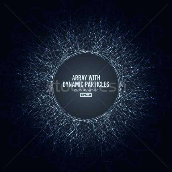 Wektora dynamiczny cząstki duży danych Zdjęcia stock © pikepicture