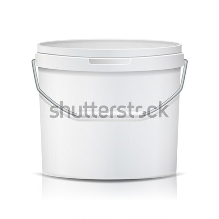 Realistic Bucket Vector. Template Bucket Container. Product Packaging Design For Food, Foodstuff, Pa Stock photo © pikepicture