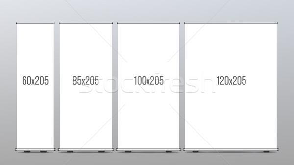 Rodar hasta banner stand vector presentación Foto stock © pikepicture