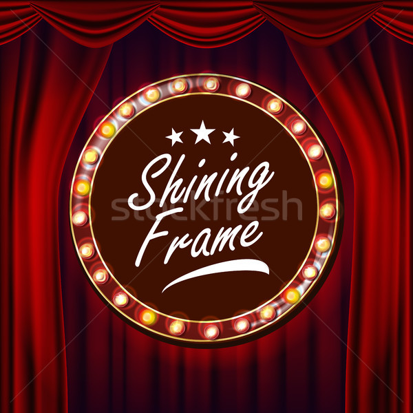 Goud frame vector Rood theater Stockfoto © pikepicture
