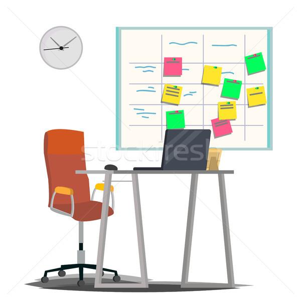 Conselho vetor postá-lo notas software desenvolvimento Foto stock © pikepicture