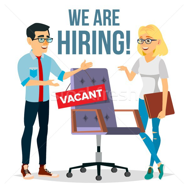 Recruitment Process Vector. Human Resources. Choice Of Candidate Employee. Office Chair. Vacancy. Ex Stock photo © pikepicture