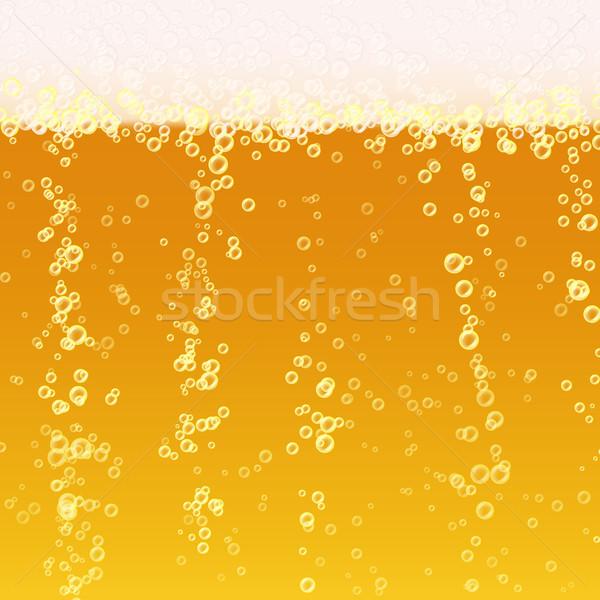 Piwa piana realistyczny tekstury świetle jasne Zdjęcia stock © pikepicture