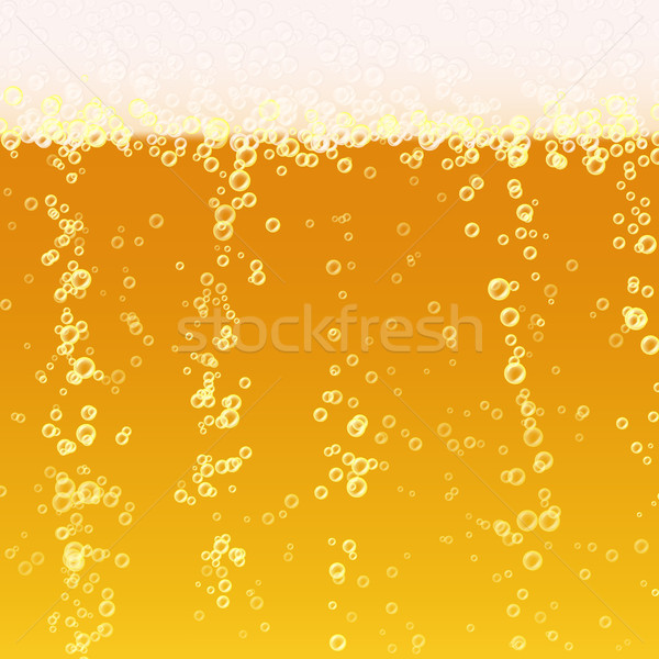 Cerveja espuma realista textura luz brilhante Foto stock © pikepicture