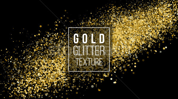 Gold Glitter Cloud Or Shining Particles Explosion Texture. Amber Particles Color. Celebratory Backgr Stock photo © pikepicture