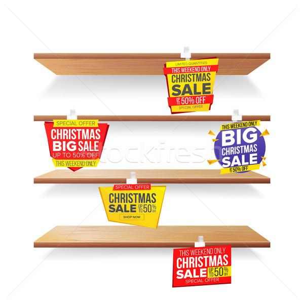 Supermarkt vakantie christmas verkoop reclame Stockfoto © pikepicture