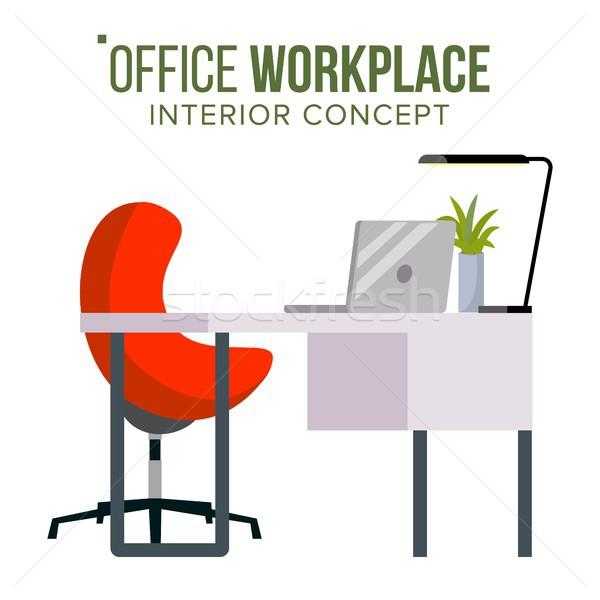 Ufficio lavoro vettore mobili boss sviluppatore Foto d'archivio © pikepicture