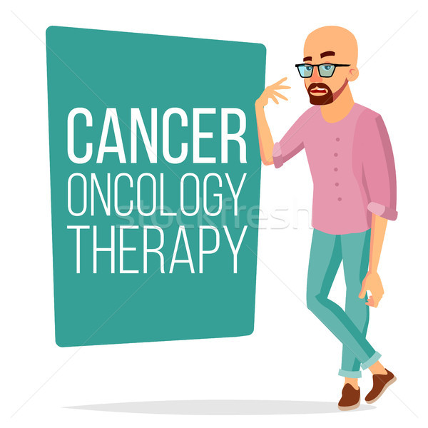 Chemotherapy Patient Man Vector. Sick Male With Cancer. Medical Oncology Therapy Concept. Treatment. Stock photo © pikepicture