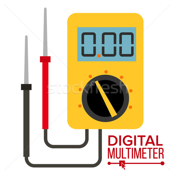 Multimeter Vector. Digital Gadget. Electrical Multitester Icon. Current Voltmeter Voltage Meter. Ele Stock photo © pikepicture