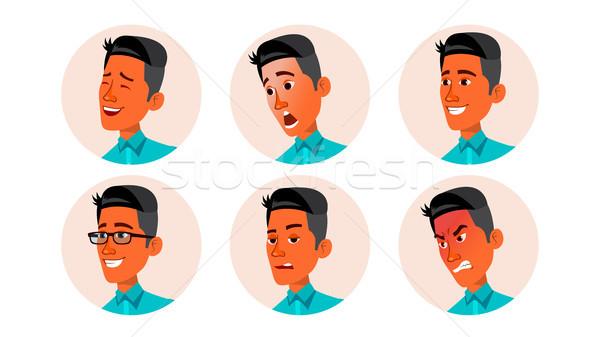 Avatar icono hombre vector fuerte pictograma Foto stock © pikepicture