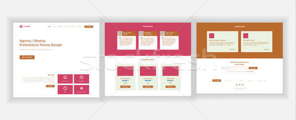 сайт страница вектора бизнеса агентство веб Сток-фото © pikepicture
