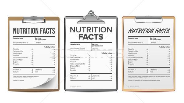 Nutrition réalités vecteur modèle régime alimentaire calories Photo stock © pikepicture