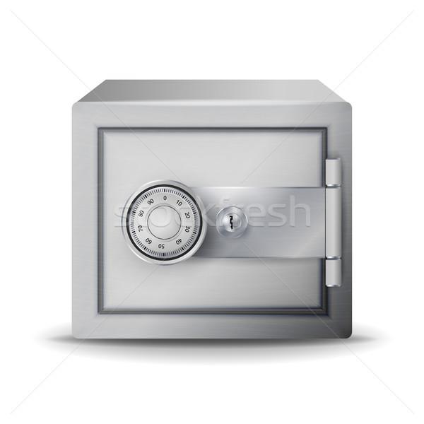 металл безопасной реалистичный вектора депозит 3d иллюстрации Сток-фото © pikepicture