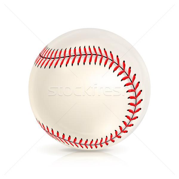 Stock photo: Baseball Leather Ball Isolated