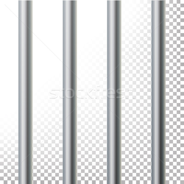 Prison Bars Isolated Vector Illustration. Transparent Background. 3D Metal Jailhouse, Prison House G Stock photo © pikepicture