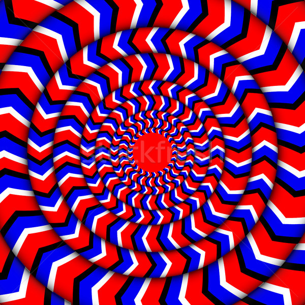 Hypnotic Of Rotation. Perpetual Rotation Illusion. Stock photo © pikepicture