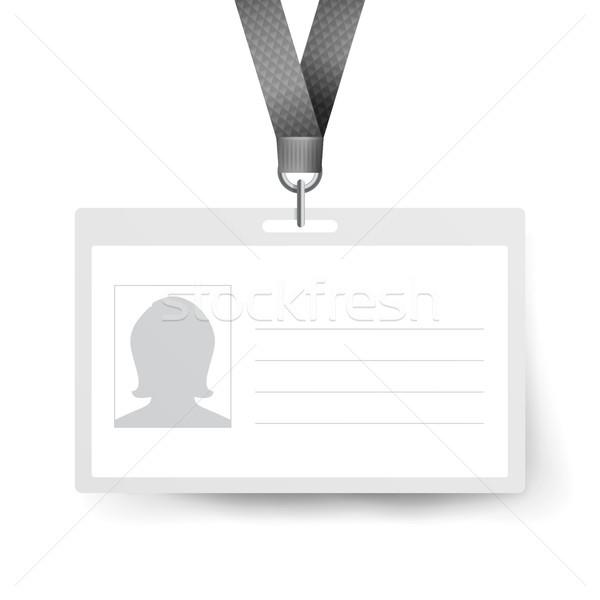 Realista identificación tarjeta vector plantilla Foto stock © pikepicture