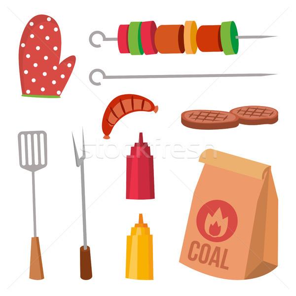 Bbq vecteur sauce moutarde Photo stock © pikepicture
