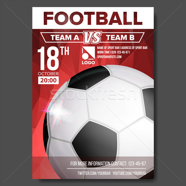 Voetbal poster vector sport evenement aankondiging Stockfoto © pikepicture