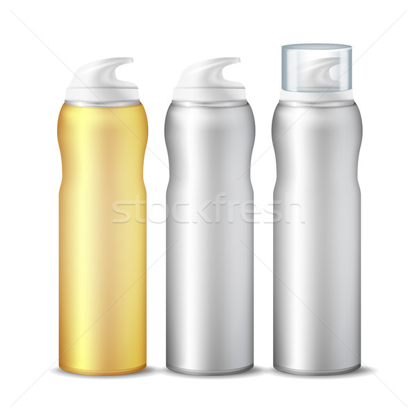 Realistic Spray Can Vector. Branding Design Aluminium Can Template Blank. Dispenser For Cream, Cosme Stock photo © pikepicture
