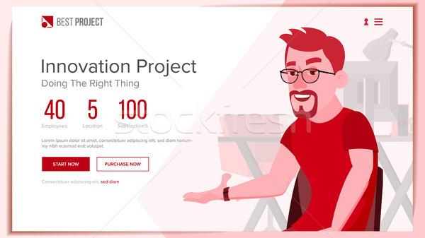 веб страница вектора бизнеса проект технической Сток-фото © pikepicture