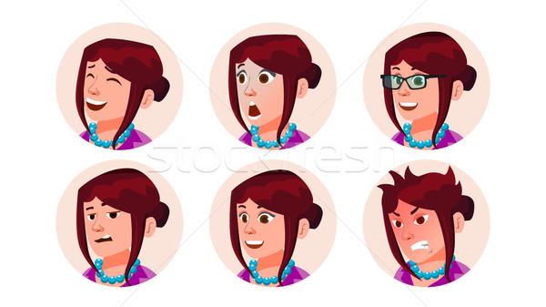 Negócio avatar mulher vetor belo feminino Foto stock © pikepicture