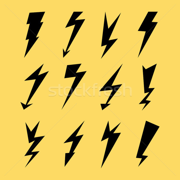 Молния электроэнергии Thunder символ признаков Сток-фото © pikepicture