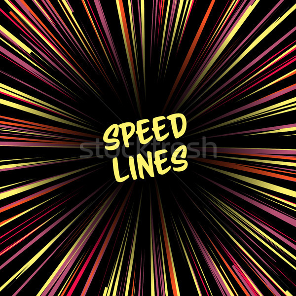 Fast speed warp vector effect. Stock photo © pikepicture