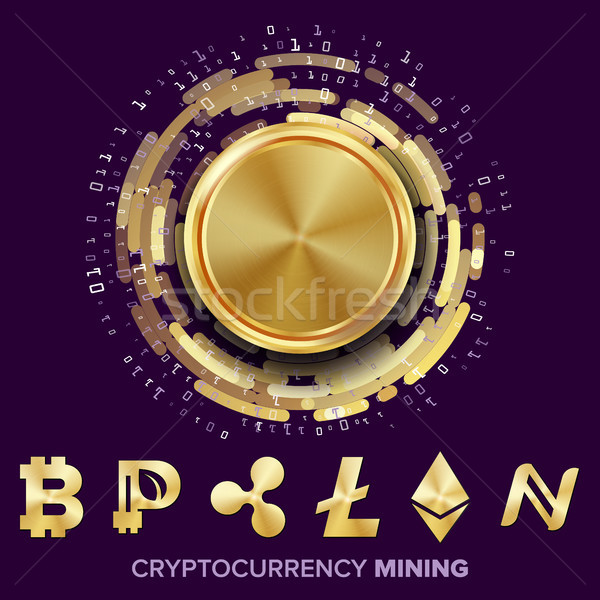 Mining Cryptocurrency Concept Vector Stock photo © pikepicture