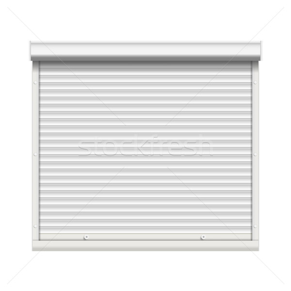 Realistic Window Roller Shutters Vector. Front View. Isolated Stock photo © pikepicture