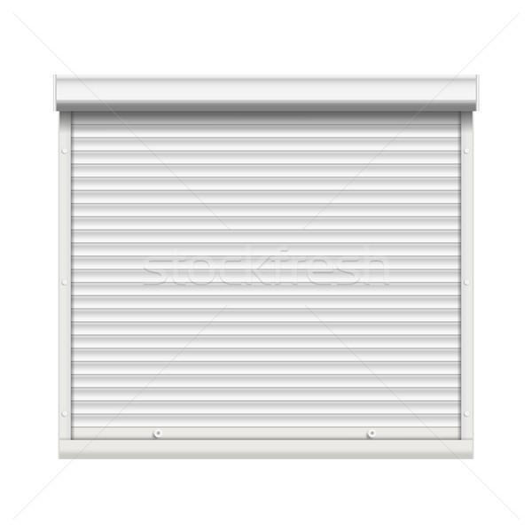 реалистичный окна жалюзи вектора мнение Сток-фото © pikepicture