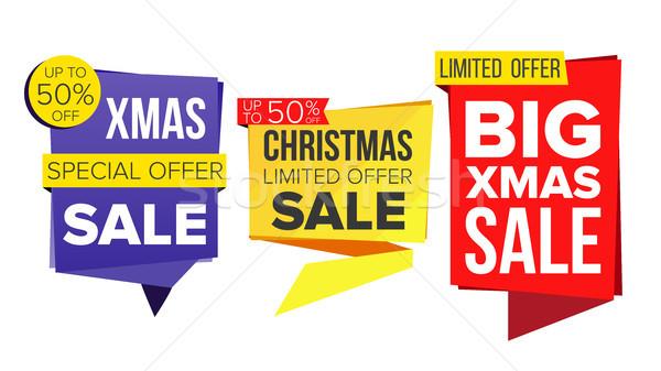 Stock fotó: Karácsony · vásár · szalag · szett · vektor · december