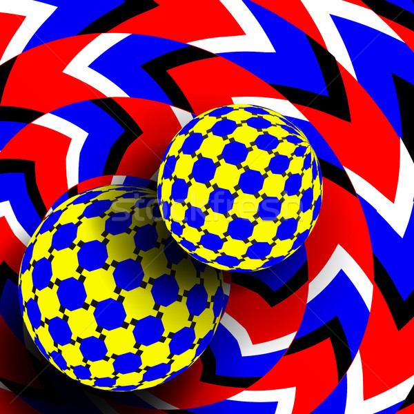 Illusion Vector. Optical 3d Art. Rotation Dynamic Optical Effect. Swirl Illusion. Delusion Motley Mo Stock photo © pikepicture