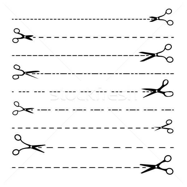 Hat vektör ayarlamak noktalı hatları Stok fotoğraf © pikepicture