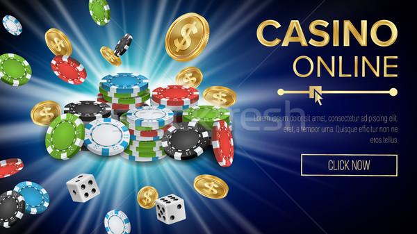Casino bannière vecteur jackpot Billboard Photo stock © pikepicture