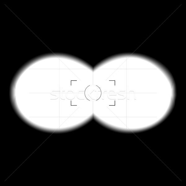 双眼鏡 表示 テンプレート ベクトル 検索 ぼやけた ストックフォト © pikepicture