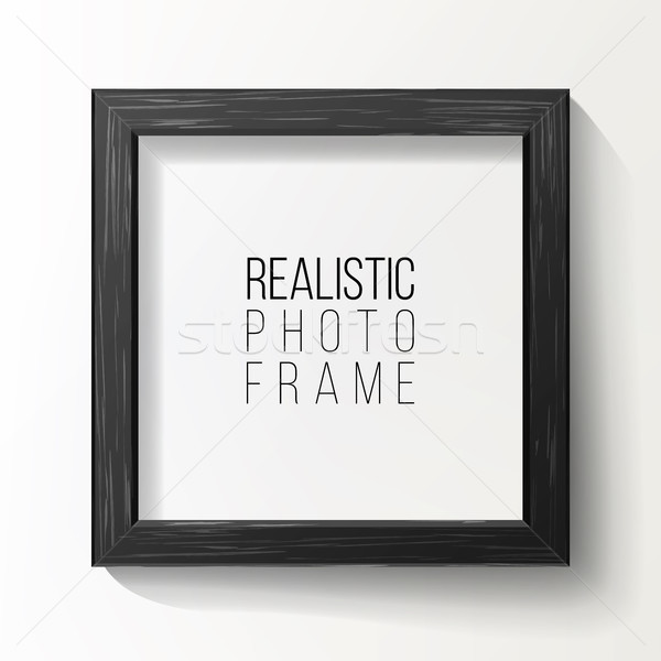 Realistic Photo Frame Vector. On White Wall From The Front With Soft Shadow. Good For Your presentat Stock photo © pikepicture