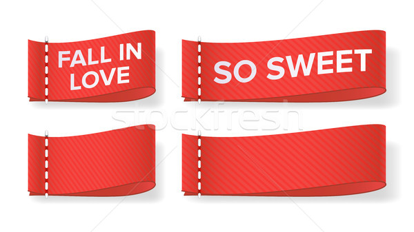 Valentine s Day Clothing labels Vector. Isolated On White Illustration Stock photo © pikepicture