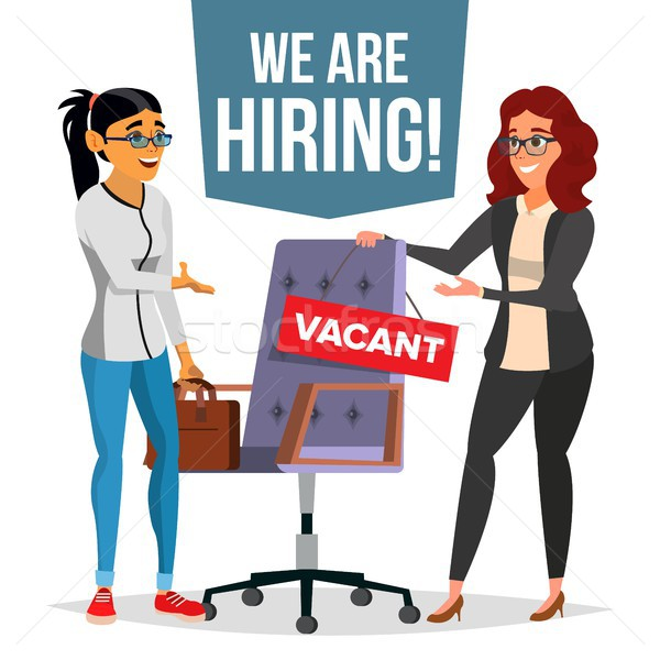 Recruitment Process Vector. Human Resources. Choice Of Employee. Office Chair. Vacancy Sign. Recruit Stock photo © pikepicture
