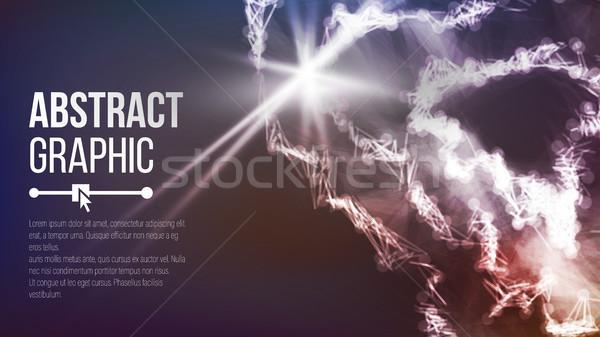 Ponto curva esfera wireframe conexão estrutura Foto stock © pikepicture