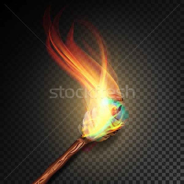 El feneri alev gerçekçi yangın yalıtılmış şeffaf Stok fotoğraf © pikepicture
