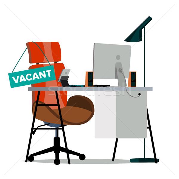 вектора офисные кресла знак современных месте сотрудник Сток-фото © pikepicture